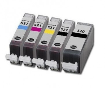 .Canon CLI-521/PGI-520  voordeelset (5 cartridges) MET CHIP