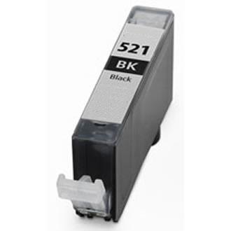 .Canon CLI-521BK zwart (compatible MET CHIP)