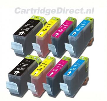 Canon BCI-3e 2 complete sets (8 compatible cartridges)