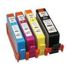 HP 364XL 4 Pack Zwart en 3 kleuren (compatible)met chip