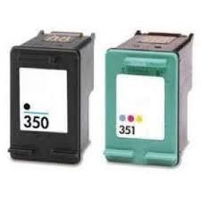 HP 350XL Zw en 351XL Kleur Duopack (Compatible)