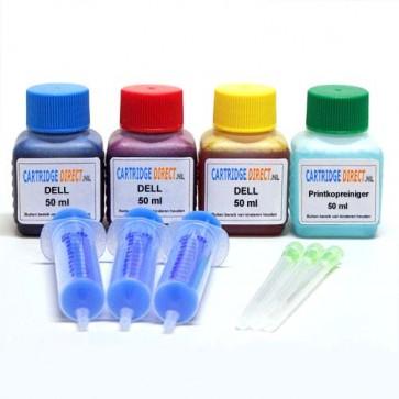 DELL 922/924/926/942/ 944/946/962/964/966 navulset 3x50 ml kleur
