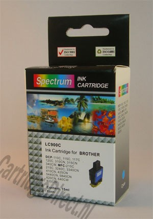 .Brother LC-900C Cyan (compatible)