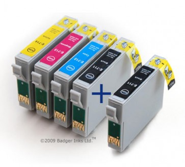 .Epson 2 x T0711, 1 x T0712-T0714 (5 compatible cartridges)