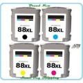 HP 88XL Voordeelset Zwart en 3 kleuren (Compatible)