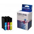 Lexmark 100 xl Voordeelset 3 kleuren C,M,Y (compatible)